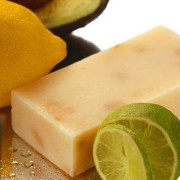 Beauty and the Bees West Indian Lemon Lime & Avocado Soap | All Natural | Excellent for Dry or Sensitive Skin | Made With Tasmanian Leatherwood Honey | Handmade in Tasmania Australia