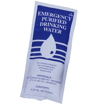 Emergency Drinking Water Pouch 4.225oz.