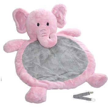 Mary Meyer Pink Elephant Best Ever Baby Mat with Pacifier Clip