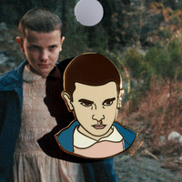 Stranger Things – Eleven Enamel Pin in Gold