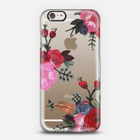 PAINTED FLORAL / WOOD iPhone 6 case by Plum Street Prints | Casetify