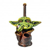 Smoking Yoda Wood Pipe 5""