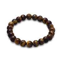Tiger's Eye Bead Stretch Bracelet
