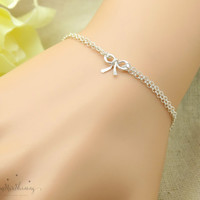 Bow Bracelet  knot bracelet Friendship bracelet silver bow bracelet Graduation gift for friend, gift for best friends sister gift