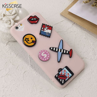 KISSCASE Cute Cartoon Case For iPhone 6 6s 7 Plus Soft TPU Cover For iPhone 7 6 6s Plus Ultra Thin Silicone Phone Cases Capa