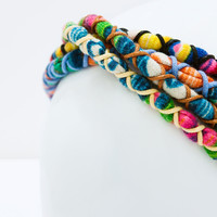 Multicolored woven headband