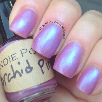 Handmade Nail Polish - IN THE PINK line - orchid Pink - large bottle - polish - glitter - lacquer - top coat