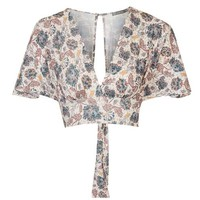 **Floral Kimono Sleeve Crop Top by Love - Tops - Clothing