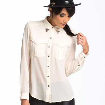Metal Tip Cowgirl Blouse