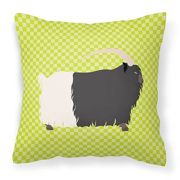 Welsh Black-Necked Goat Green Fabric Decorative Pillow BB7713PW1818