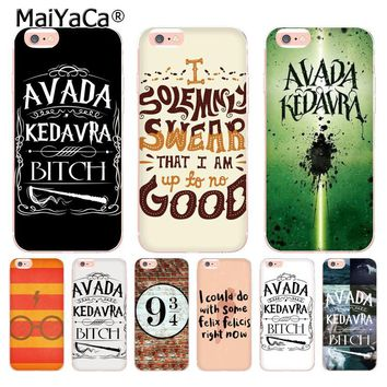 MaiYaCa Avada Kedavra Bitch for Harry Potter soft tpu phone case cover for Apple iPhone 8 7 6 6S Plus X 5 5S SE 5C 4 4S Cases