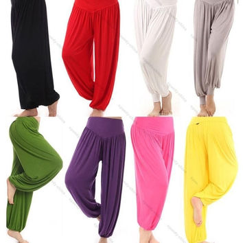 Ladies Harem Modal Sports Clothes Soft Women's Yoga Wear bloomers pants @YG1001 = 1933163716