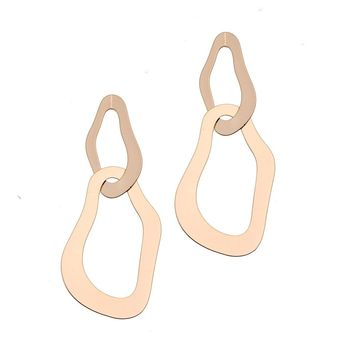 Fara Metal Drop Earrings