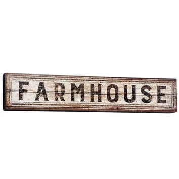 "Vintage ""Farmhouse"" Banner Box Sign - 30-in"