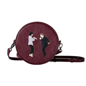 [Set] Pulp Fiction Leather Crossbody Bag + Wristlet