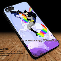 Rainbow Unicorn Batman iPhone 6s 6 6s+ 5c 5s Cases Samsung Galaxy s5 s6 Edge+ NOTE 5 4 3 #cartoon #batman #superheroes DOP244
