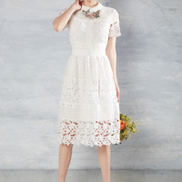 Cordially Delighted Lace Dress | Mod Retro Vintage Dresses | ModCloth.com