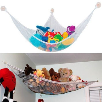1PC Children's Toy Storage Bag Hammock JUMBO Deluxe Pet Organize Corner Stuffed Toy Hammock Net Animals Toy Bag CX671964