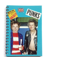 The SEX PISTOLS Notebook Free UK Postage 70 plain pages Sid Vicious Johnny Rotten Punk Rock  music fan gift