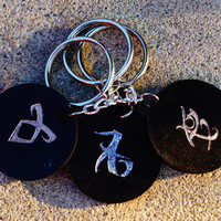 City of Bones Keychain The Mortal Instruments Infernal Devices Choose Rune