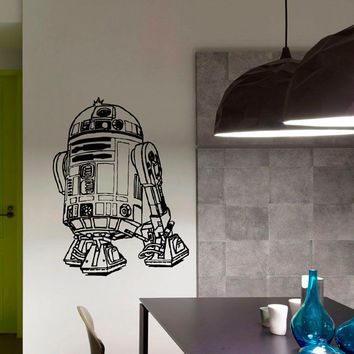 Wall Decals Vinyl Sticker Decal Star Wars R2D2 Robot Wall Decor Home Interior Design Art Mural Boys Room Kids Bedroom Dorm Z760