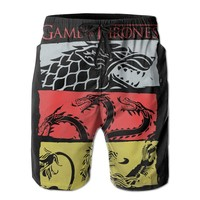 Game Of Thrones Mens Fashion Casual Beach Shorts