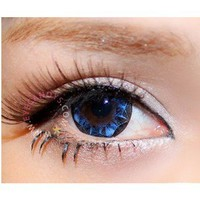 NEO Ruby Queen Blue Circle Lenses Colored Contacts