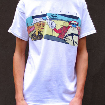 Ren and Stimpy T-Shirt, Fear and Loathing T-shirt, 90s Cartoon t-shirt, retro cartoon tee, Hunter S Thompson Shirt, Weird T-Shirt