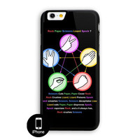 The Big Bang Theory Rock Paper Scissors Lizard Spock iPhone 6 Plus Case