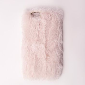 Missguided - Fluffy iPhone 6 Case Pink