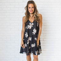 Japanese Bloom Floral Dress