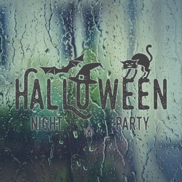 Halloween Night Party Vinyl Wall Decal - Removable (Indoor)