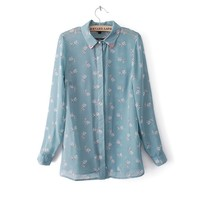 2014 New Autumn and Winter Fashion Shirt Turn down Collar Full Sleeve Cute Dog Print Blouse J81-in Blouses & Shirts from Apparel & Accessories on Aliexpress.com