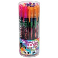 Wild Neon Rainbow Gel Pen - 24 Units