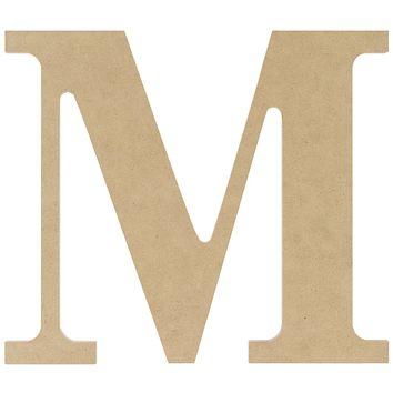 """MDF Classic Font Wood Letters & Numbers 9.5""""-Letter M"""