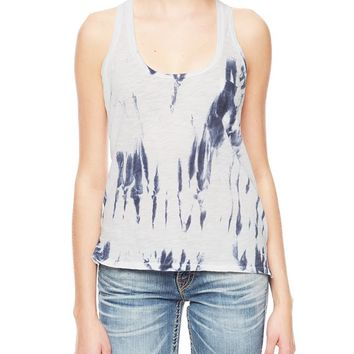 True Religion Tie Dye Pocket Womens Tank - Washed Blue