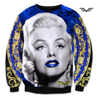 Vindicated marilyn monroe blue crewneck