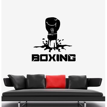 Wall Decal Boxing Glove Punch Fist Sport Fight Vinyl Sticker (ed1444)