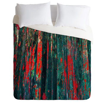 Caleb Troy Red Splinters Duvet Cover