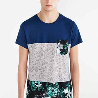 BDG Floral Pieced Pocket Regular-Fit Tee