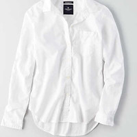 AEO Lightweight Boyfriend Shirt, White