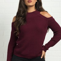 Rachel Sweater- Burgundy