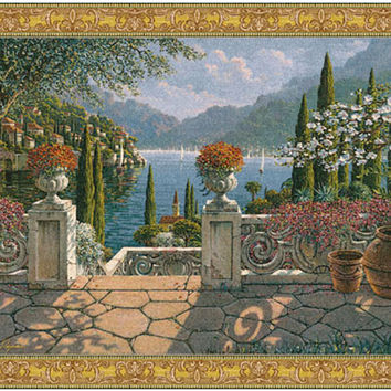 Italian Terrace Tapestry Wall Art Hanging