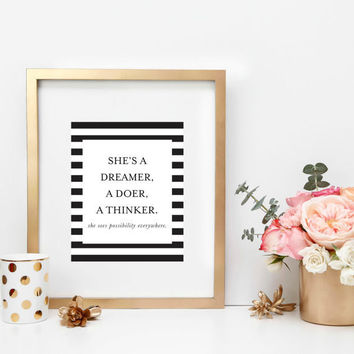 INSTANT DOWNLOAD Dreamer, Doer, Thinker Print