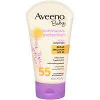 Aveeno Baby Continuous Protection Sunblock Lotion SPF 55, 4 oz - Walmart.com