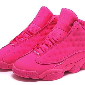 Womens Air Jordan 13 Retro Gs All Pink Girls Size Jordan 13 Gs Pink - Beauty Ticks