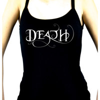 Death Being the End Women's Spaghetti Strap Shirt Gothic Clothing