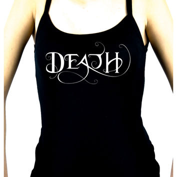 Death Being the End Women's Spaghetti Strap Shirt Gothic Deathrock Clothing