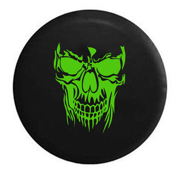 Grinning Skull Jeep RV Camper Spare Tire Cover