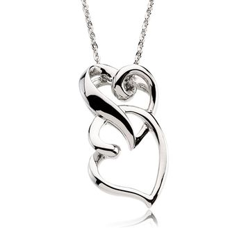 Friendship Heart Necklace in Silver